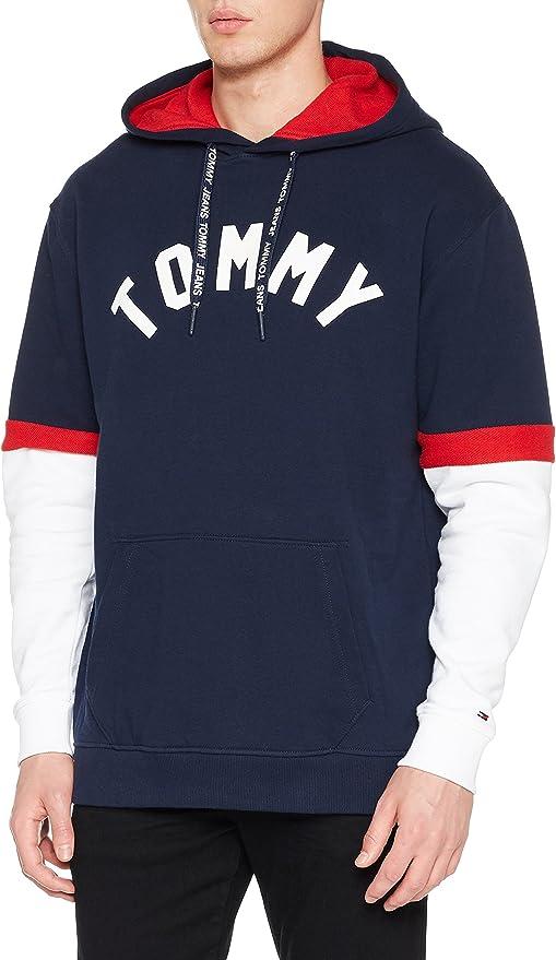 TALLA L. Tommy Hilfiger Colorblock Hoodie sudadera para Hombre