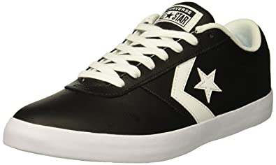 85f9fb4bc28 Converse Men's Point Star Leather Low Top Sneaker