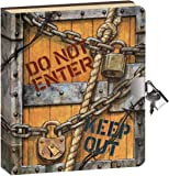 "Peaceable Kingdom Keep Out 6.25"" Lock and Key, Lined Page Diary for Kids"