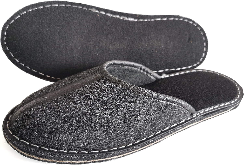 Semelle en Gomme Taille 48 Chaussures Maison pour Hommes Revise Pantoufles en Feutre