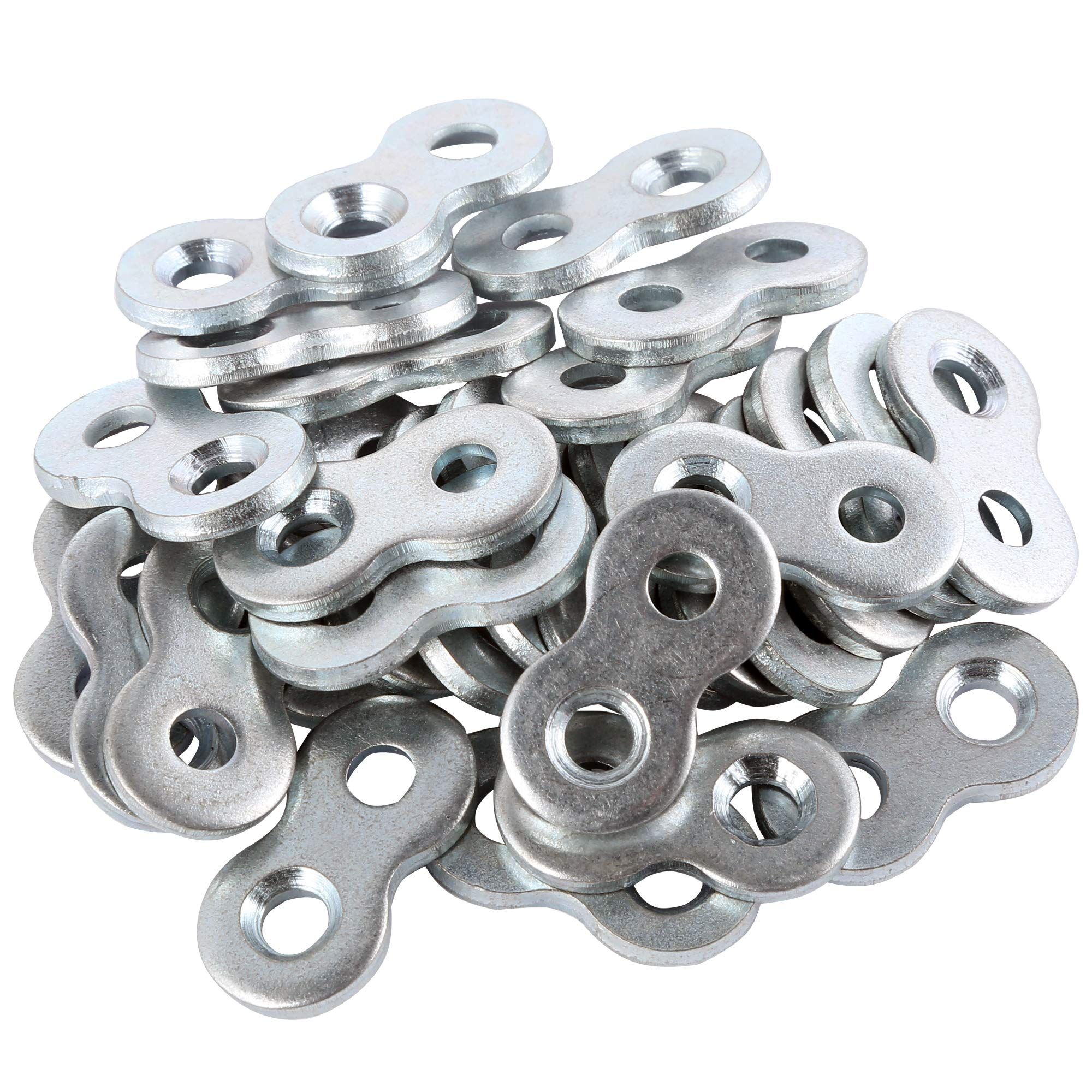 L Continue Figure 8 Fastener or Table Fasteners, Heavy Duty Steel and Galvanized Exterior. (30 Pack)