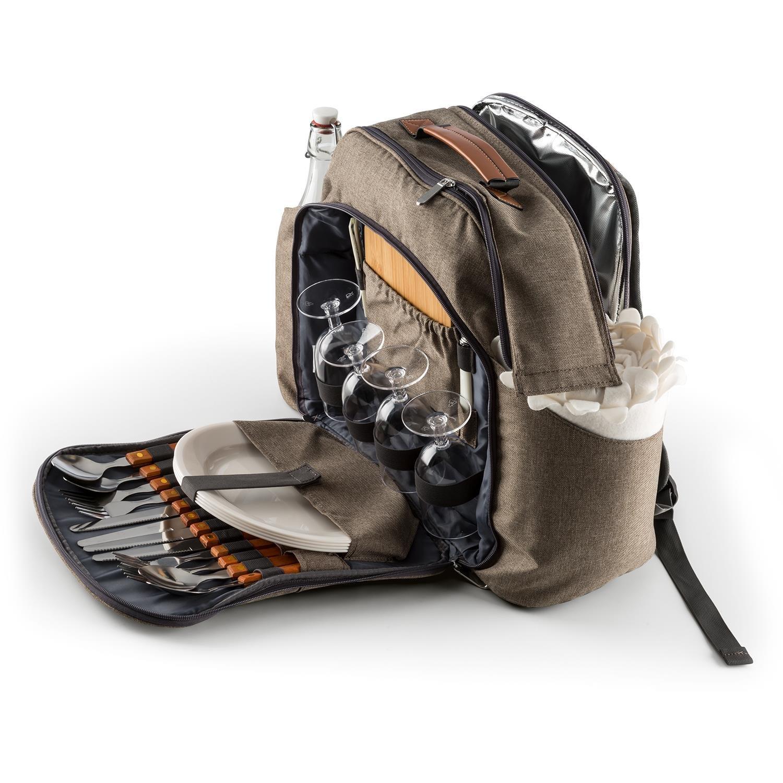 Klarstein Halford • Picknick-Rucksack• Polyester • integrierte Thermotasche
