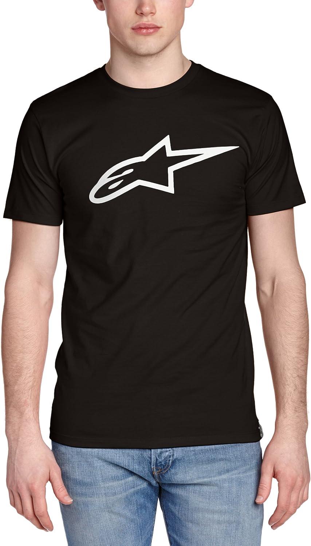 Alpinestar Ageless Classic tee Camiseta de Manga Logo de Corte Moderno, Hombre, Blanco (Black/White), Medium