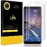 [3 Pack] Pellicola Nokia 7 Plus, LK Wet Applied Pellicola Protettiva [Copertura completa] [Bubble-Free-Riutilizzabile] HD Clear film con garanzia di sostituzione a vita