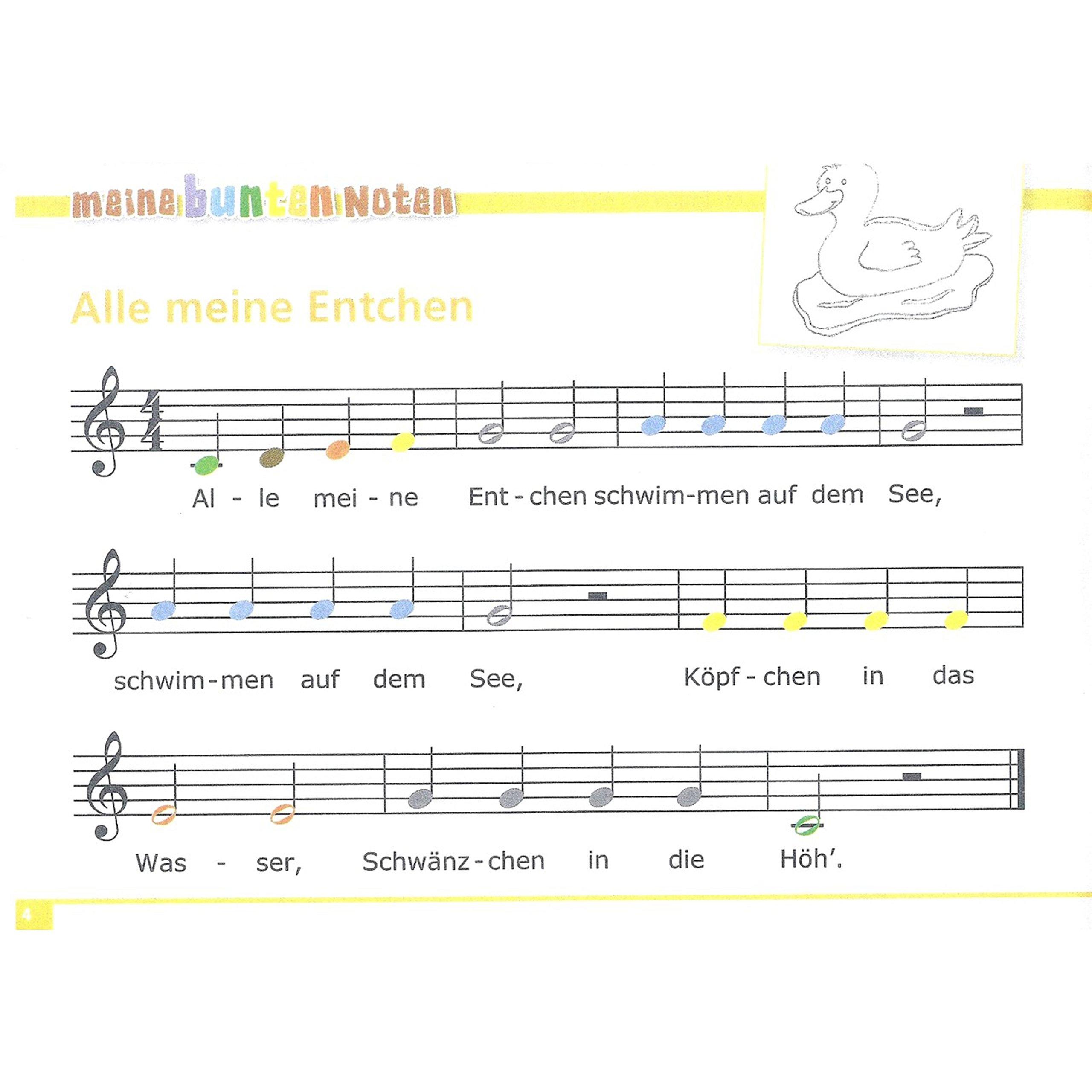 Glockenspiel Weihnachtslieder Noten Kostenlos.Meine Bunten Noten Für Das Glockenspiel Kinderlieder Band 1 Amazon