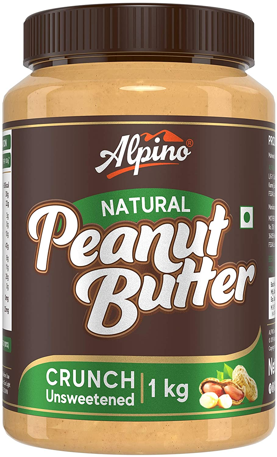 Alpino Natural Peanut Butter Crunch 1 KG $5.25 Coupon
