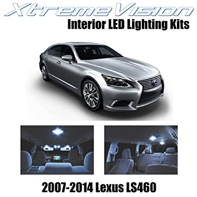 XtremeVision Interior LED for Lexus LS460 LS600h 2007-2014 (13 Pieces) Cool White Interior LED Kit + Installation Tool: Automotive