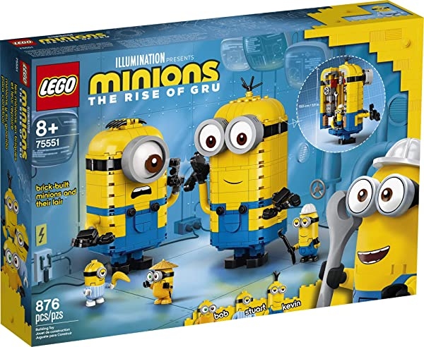 LEGO Minions Brick-Built Minions and Their Lair 75551 in the box package
