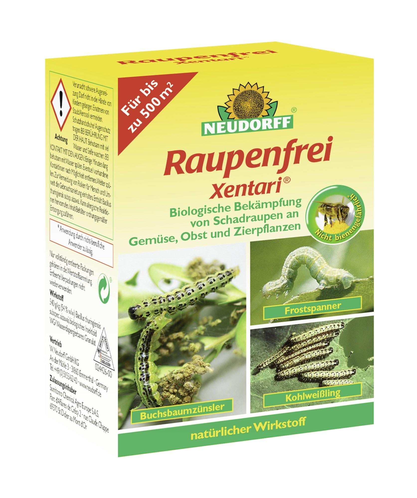 Neudorff Raupenfrei Xentari 25g gegen Buchsbaumzünsler an Buchsbäumen product image