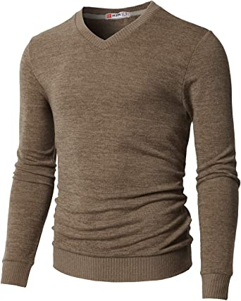X-Future Mens Crewneck Basic Long Sleeve Knitwear Solid Color Pullover Sweater