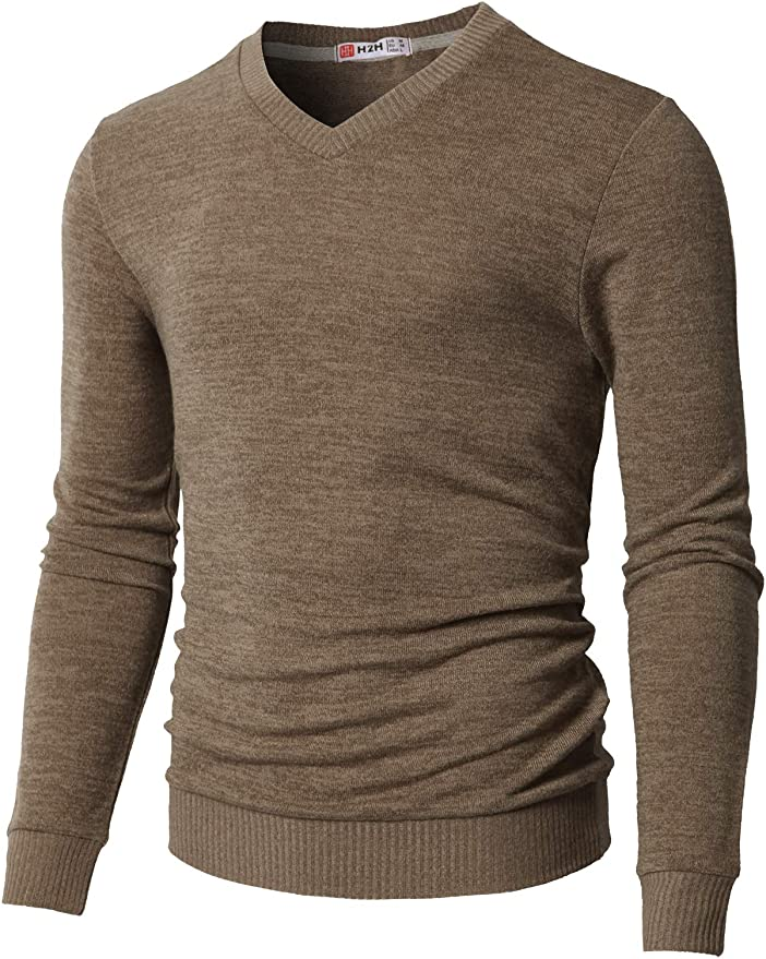 Hajotrawa Mens Turtleneck Jumper Knitted Top Slim Pullover Sweaters