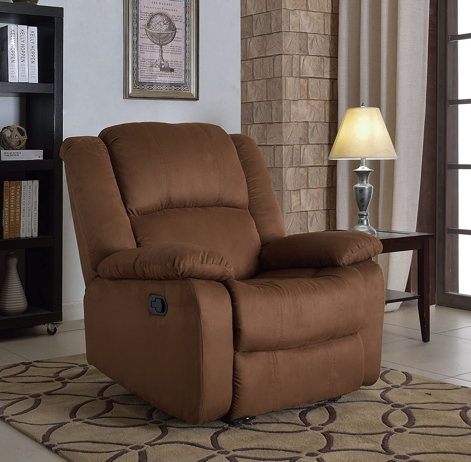 Amazon.com NHI Express Samantha Microfiber Recliner Brown Kitchen u0026 Dining & Amazon.com: NHI Express Samantha Microfiber Recliner Brown ... islam-shia.org