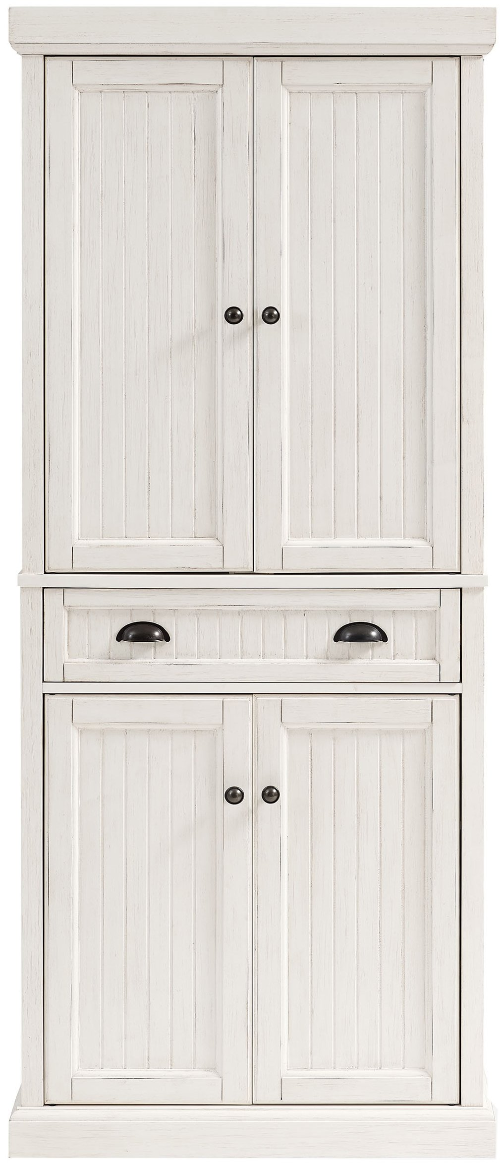 Crosley Furniture Seaside Kitchen Pantry Cabinet - Distressed White by Crosley Furniture (Image #2)