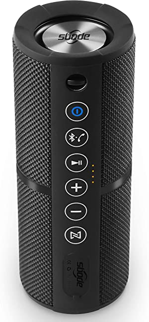 Sbode Bluetooth Speakers Portable Waterproof Outdoor Wireless Speaker Enhanced Bass, Sync Together, Built in Mic, TF Card, Auto Off, FM Radio for Beach, Shower & Home