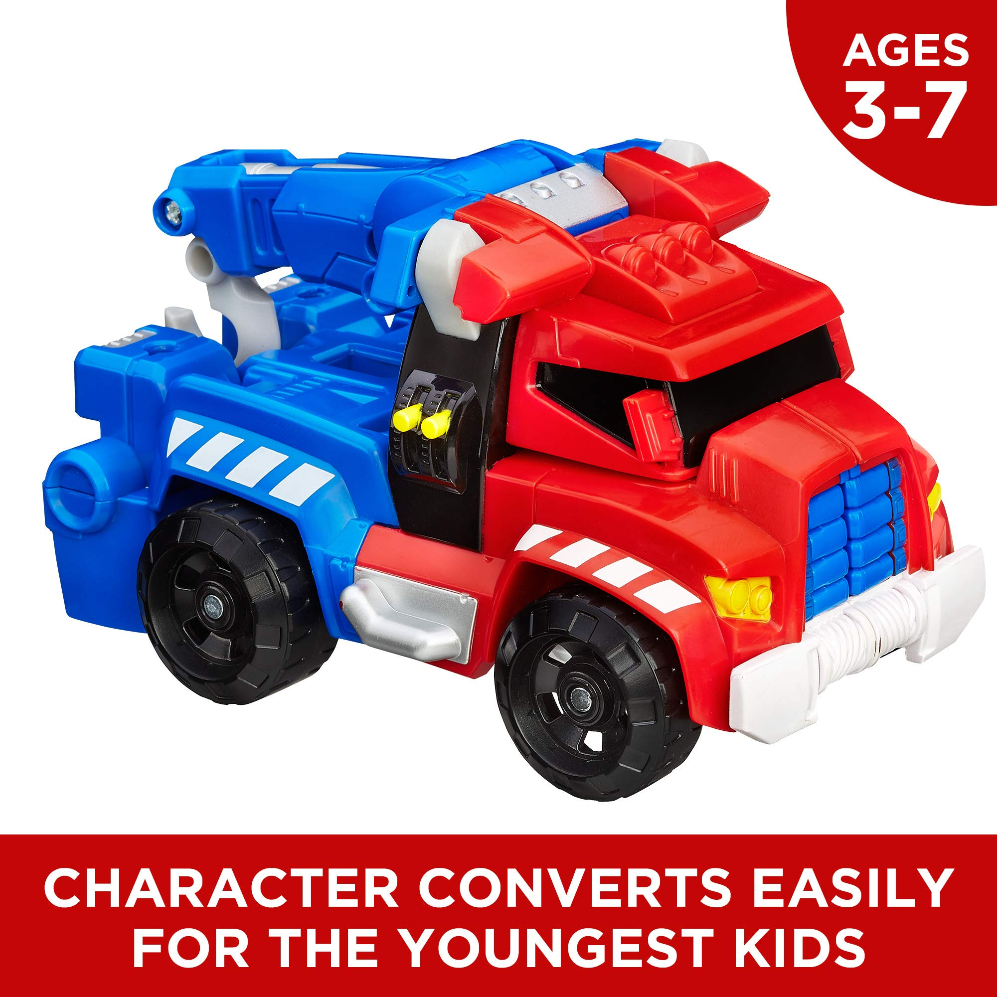 Playskool Heroes Transformers Rescue Bots Optimus Prime Action Figure, Ages 3-7 (Amazon Exclusive) by Playskool (Image #3)