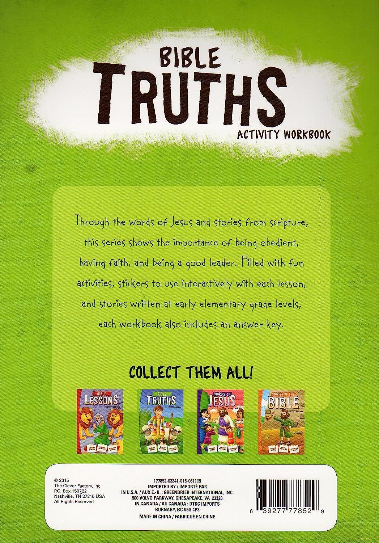 Amazon.com: Bible Truths Activity Workbook - Interactive Sticker ...