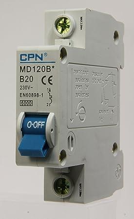Crabtree 61//B20 Miniature Circuit Breaker MCB 20amp Type B