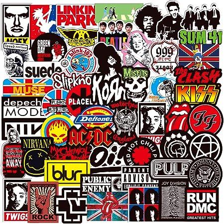 Band Rock Music Sticker Pack Vinyl Waterproof Stickers for Girls Adults Men Bike Luggage Car Laptop Motorcycles