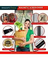 """Lebefe Actualizado Puerta magnética de la pantalla Sew-in Imanes Full Frame Velcro reforzado Negro Se adapta a la puerta hasta 38 """"x 82"""" (96cmx208cm) MAX"""