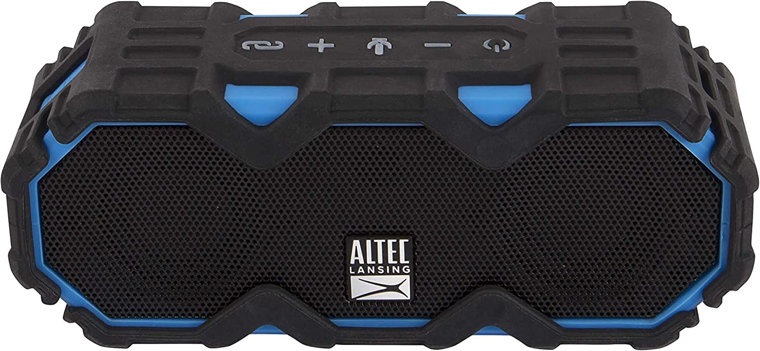 Altec Lansing IMW479 Mini LifeJacket Jolt Heavy Duty Rugged and Waterproof Ultra Portable Bluetooth Speaker with up to 16 Hours of Battery Life (Renewed)