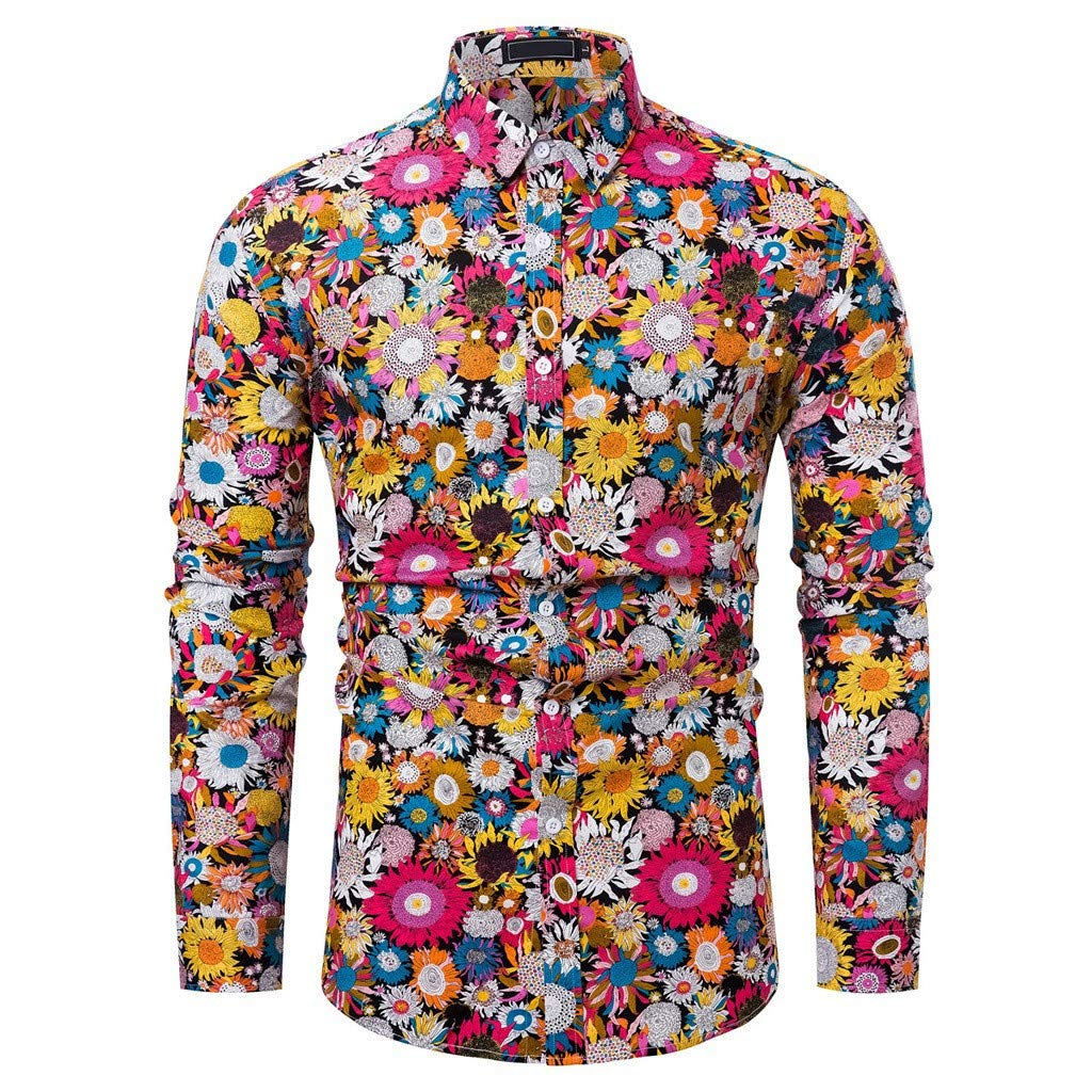 I Like it Dude 2019 New Hot Mens Printed Long Sleeve Shirts Fashion Cultivation Blouse Shirts
