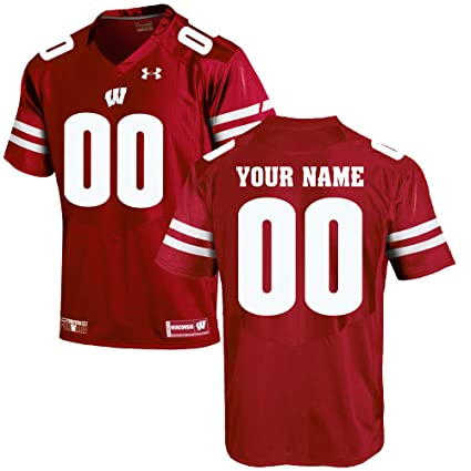 another chance e9b71 5f0d8 Under Armour Custom Wisconsin Badgers Football Jersey