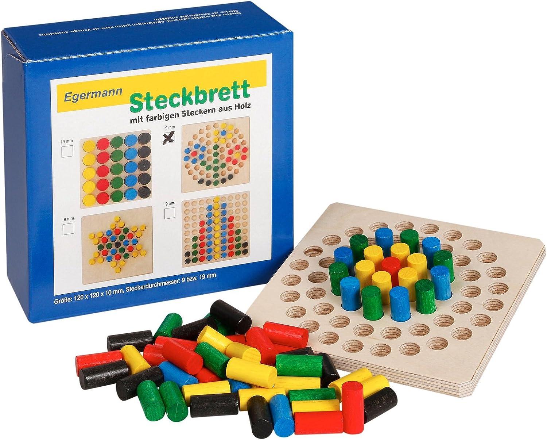 Unbekannt Juego Tablero Circuito Egermann 70 Piezas de Colores de Madera 12 cm 2088