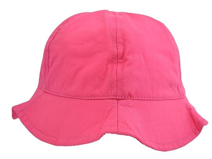 Pesci Baby Girls Sun Hat Wide Brim Summer Bucket