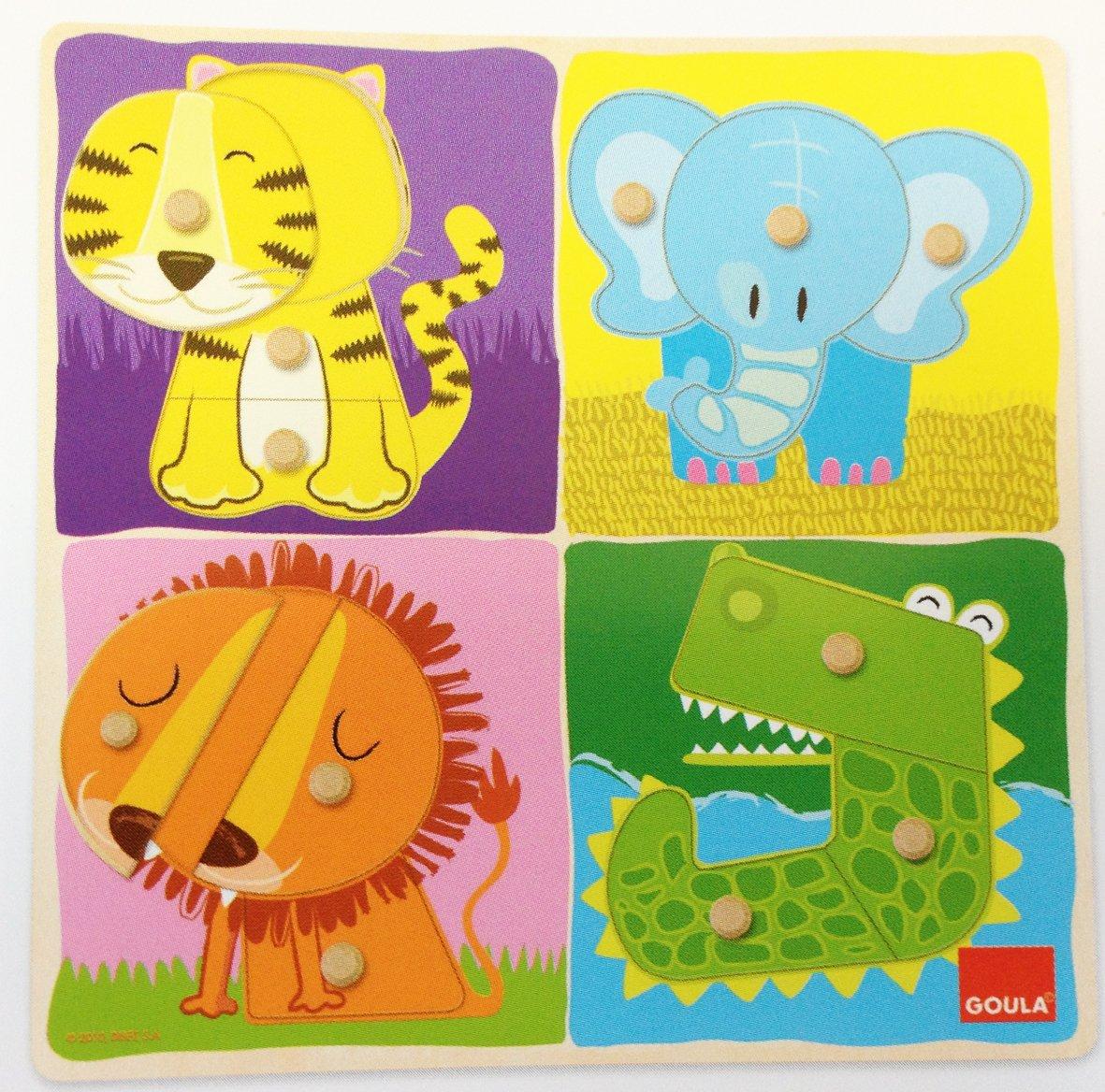 Goula Puzzle animales selva piezas de madera Diset