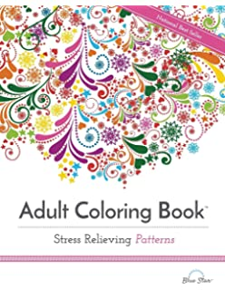 Adult Coloring Book Stress Relieving Patterns Books Best Sellers