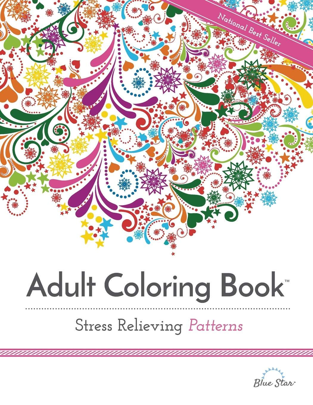 Adult coloring book stress relieving patterns adult coloring books best sellers blue star coloring 9781941325124 amazon com books