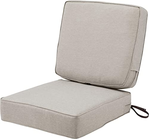 Classic Accessories Montlake Water-Resistant 25 x 25 x 5 Inch seat /25 x 22 x 4 Inch back Patio Cushion Set