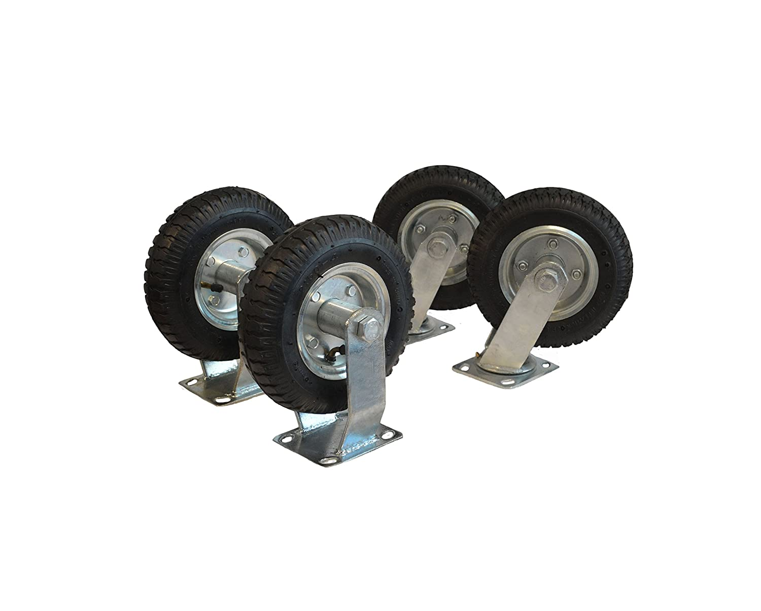 4-Pack of 8' Large Air Casters (2 Swivel and 2 Fixed) EZ Travel Distribution