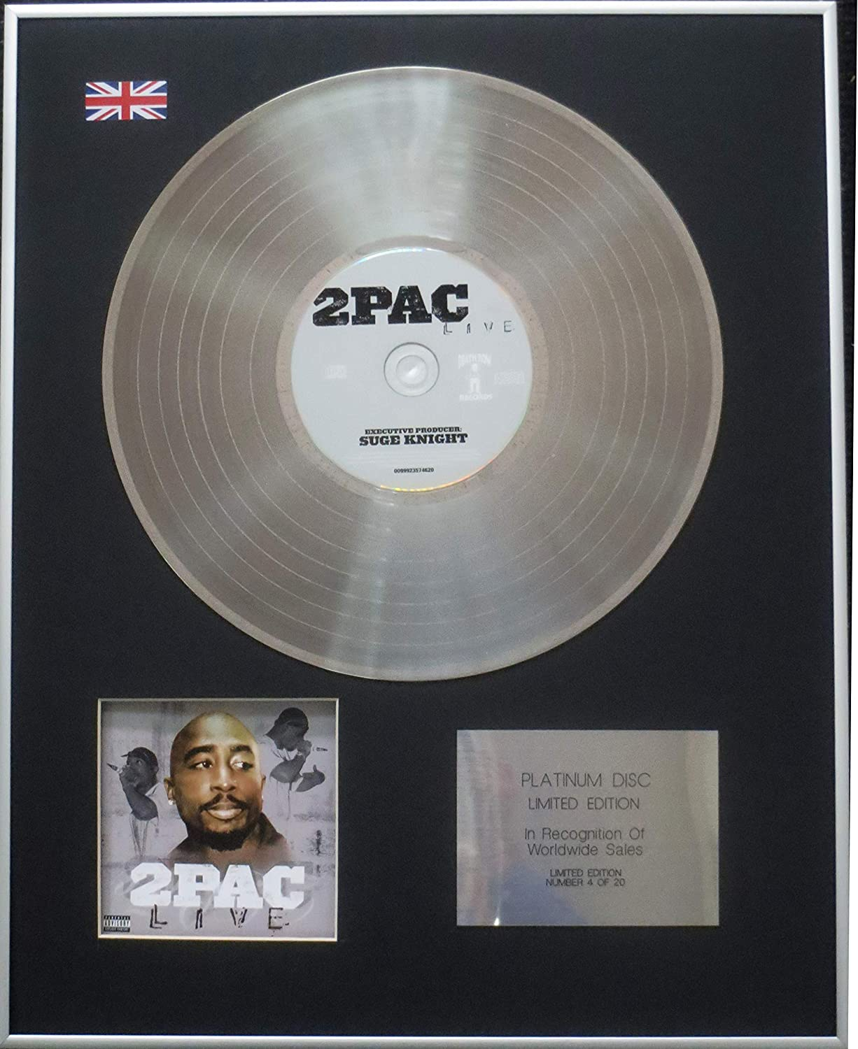 Tupac Shakur - Limited Edition CD Platinum LP Disc - 2Pac Live B07RLKYK2B