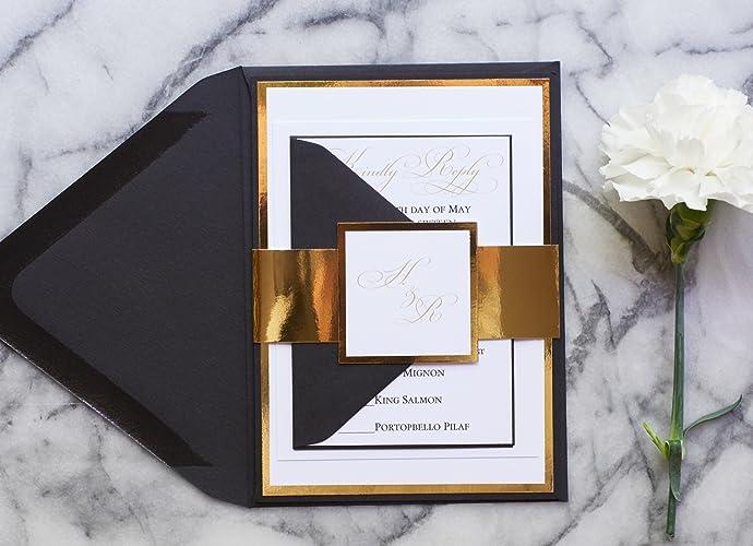 amazon com personalized foil wedding invitation mirror wedding