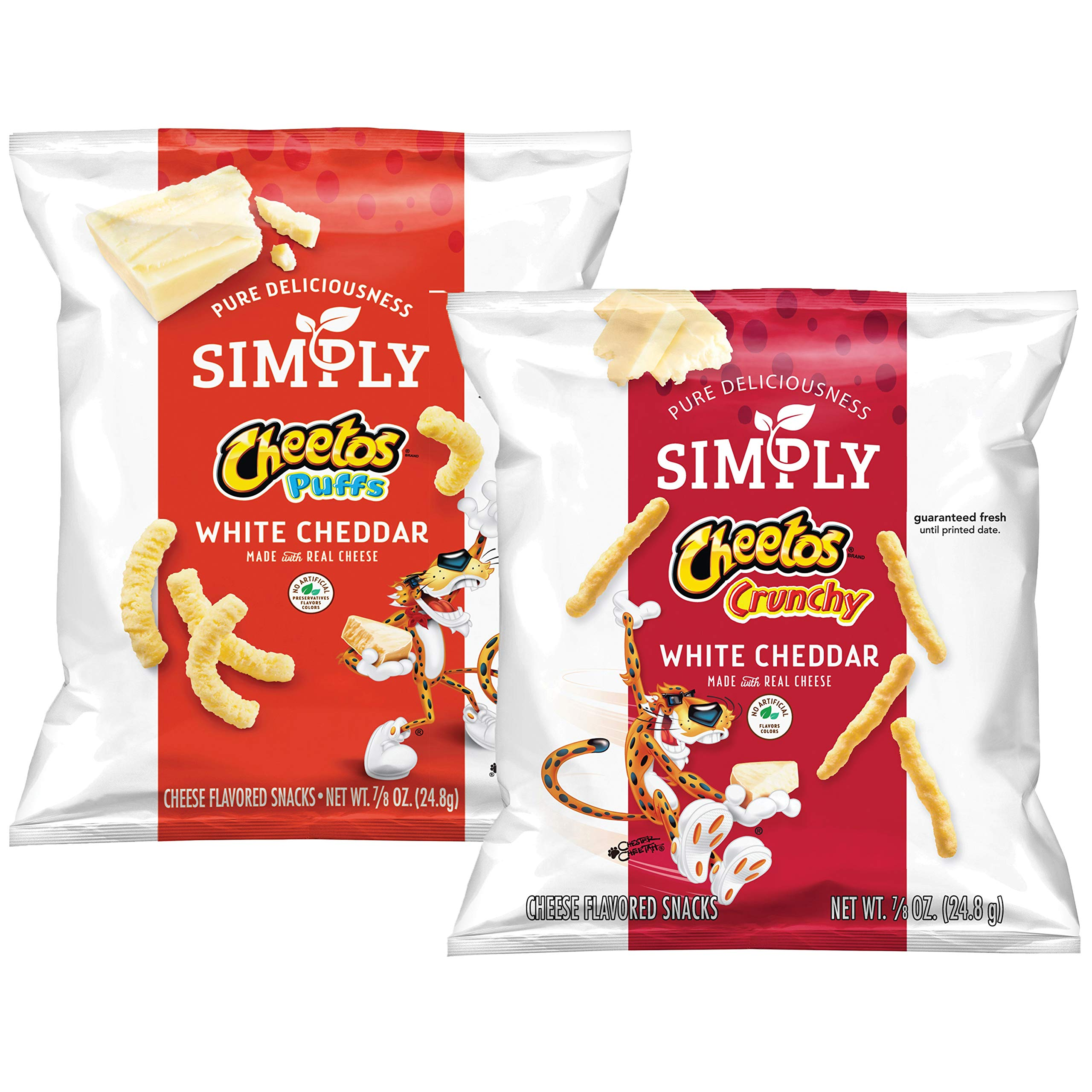 Simply Variety Pack, Cheetos White Cheddar Puffs & Crunchy by Simply