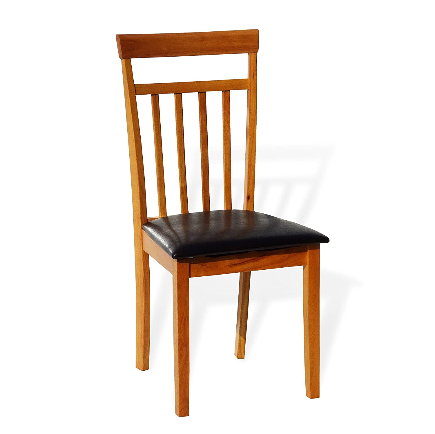 Amazon.com   Dining Kitchen Solid Wood Chair Warm Maple Finish With Padded  Seat   Chairs