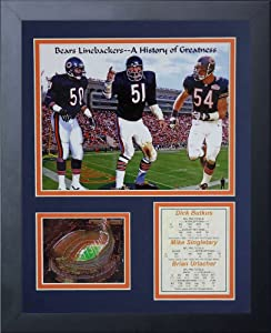 Legends Never Die Chicago Bears Monsters of The Midway Framed Photo Collage, 11x14-Inch