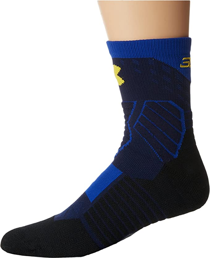Under Armour Under Armour UA Basketball Curry Mid Midnight Navy / Royal / Taxi Yellow Sock: Amazon.es: Deportes y aire libre