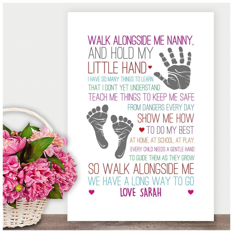 Mothers Day Gifts NANNY NANA NAN GRANNY GRAN Keepsake Poem Birthday Christmas