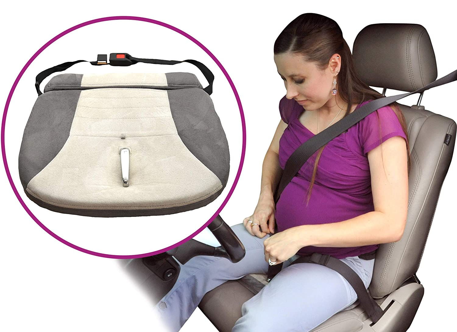 Adjustable Car Seat Strap for Tummy Bump Safety and Comfort Quick Adjust Clip for Optimal Leg Coverage Full Term Pregnancy Use White Toddler Essentials Mommy/'s Belt