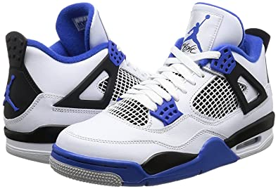 buy online e21e0 a44e3 Image Unavailable. Image not available for. Color  Jordan 308497-117 Men AIR  4 Retro White Royal Black