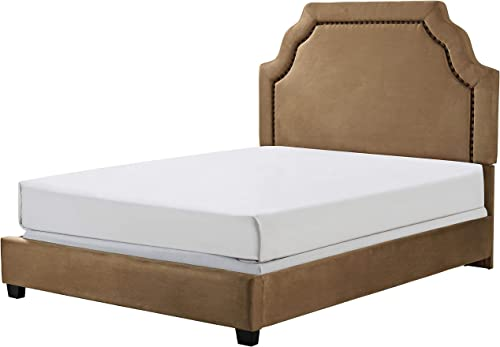 Crosley Furniture Loren Upholstered Bed and Keystone Headboard