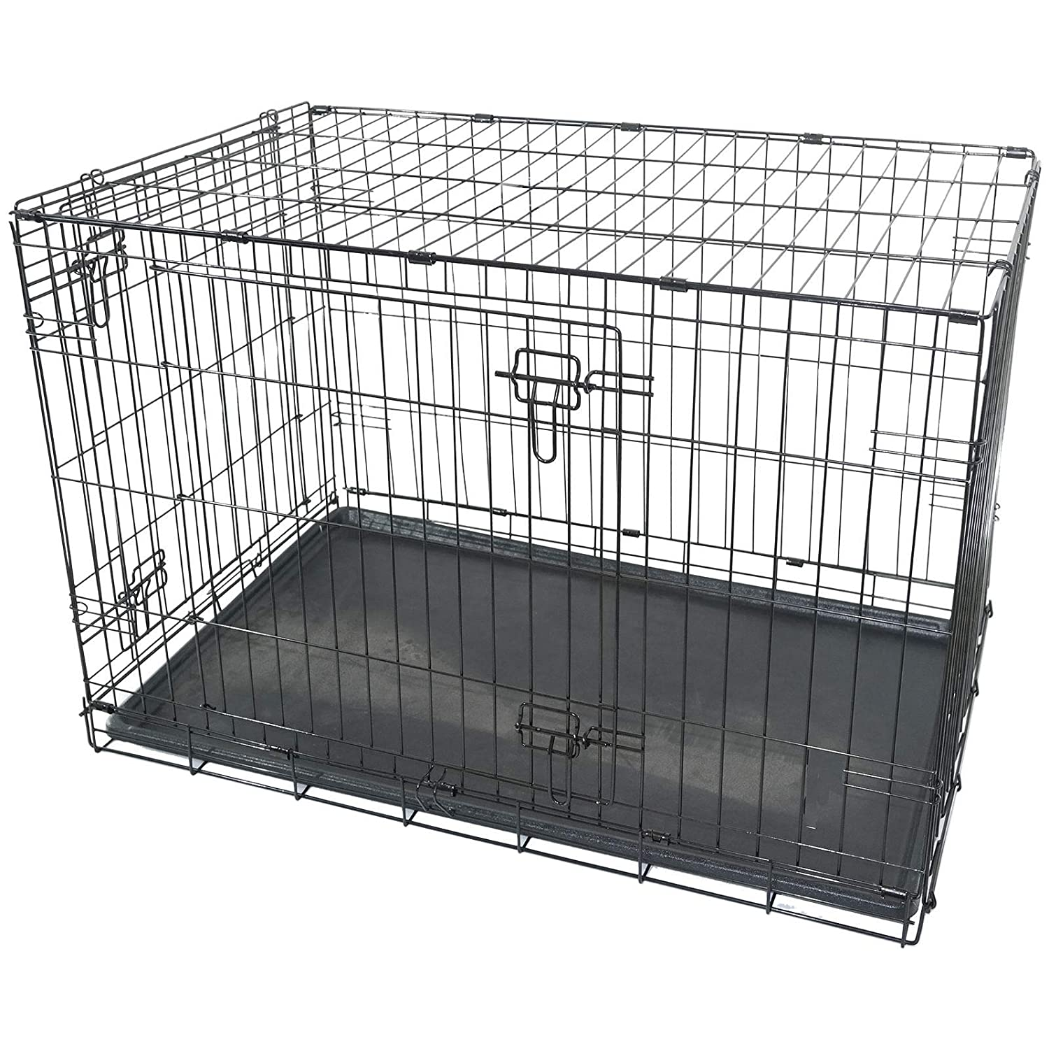 Generic NDLE TRANSPORTUPPY FOLDI PET PUPPY LARGE DOG FOLDING METAL CAGE CRATE CAGE CARRIER HANDLE TRANSPORT LARGE DOG CAGE CRATE