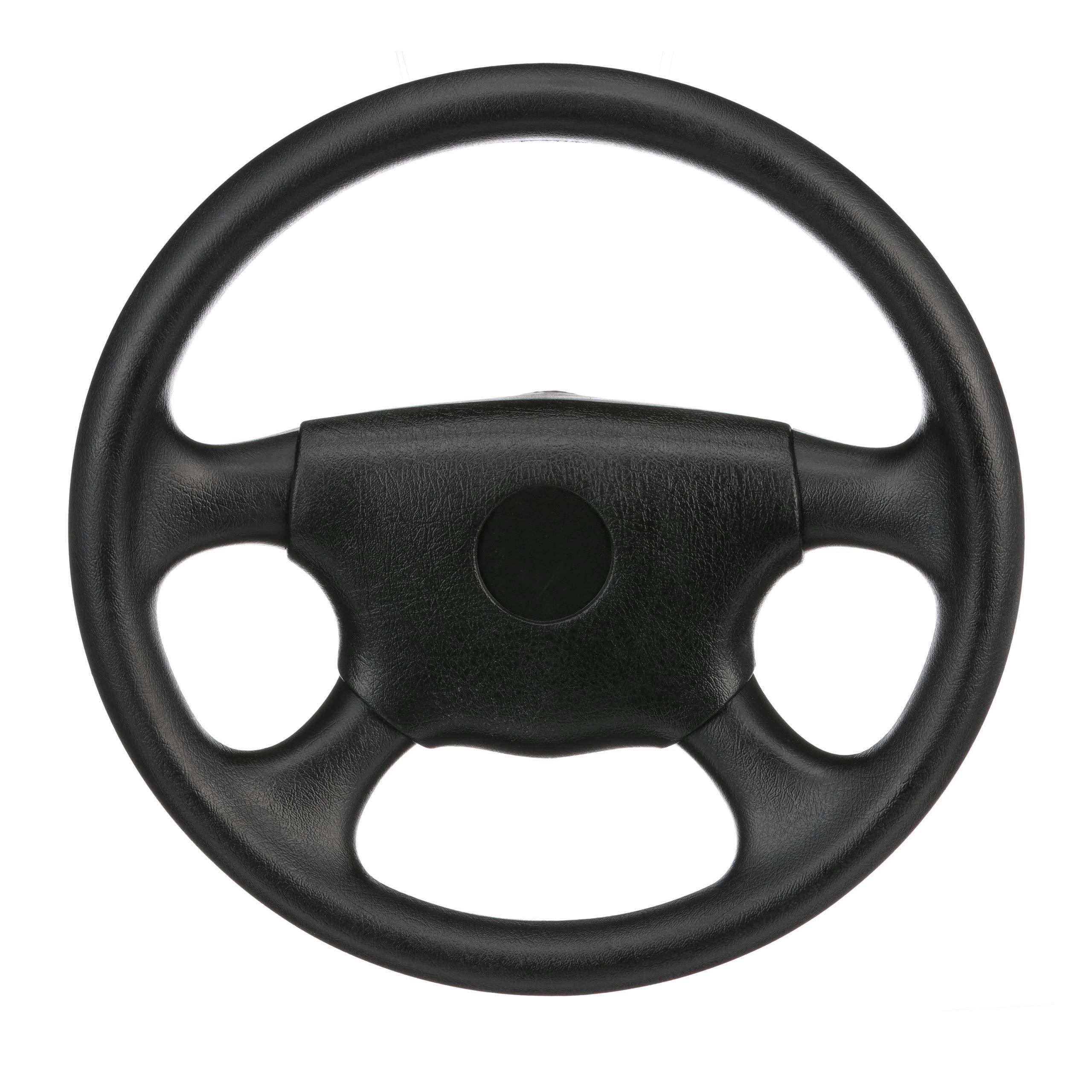 SeaChoice 28510 Universal UV-Resistant 4-Spoke Marine Boat Leather Steering Wheel by SEACHOICE