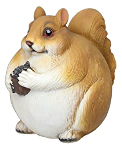 MayRich 7'' Round Fatty Woodland Animal Statue (Squirrel)