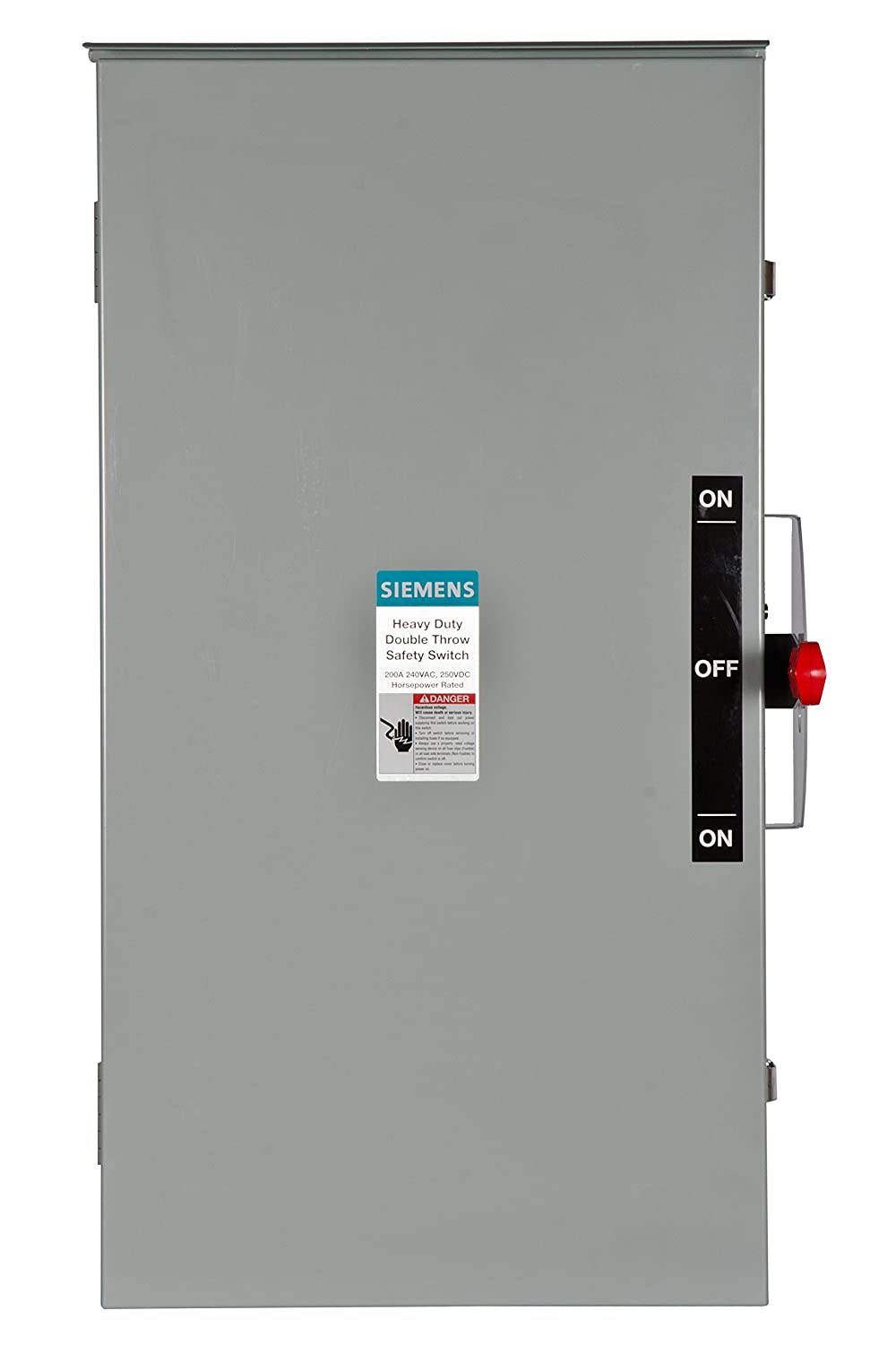 Siemens DTNF224R 200-Amp, 2 Pole, 240-volt, 2W Non-Fused Double Throw, Type  3R - - Amazon.com