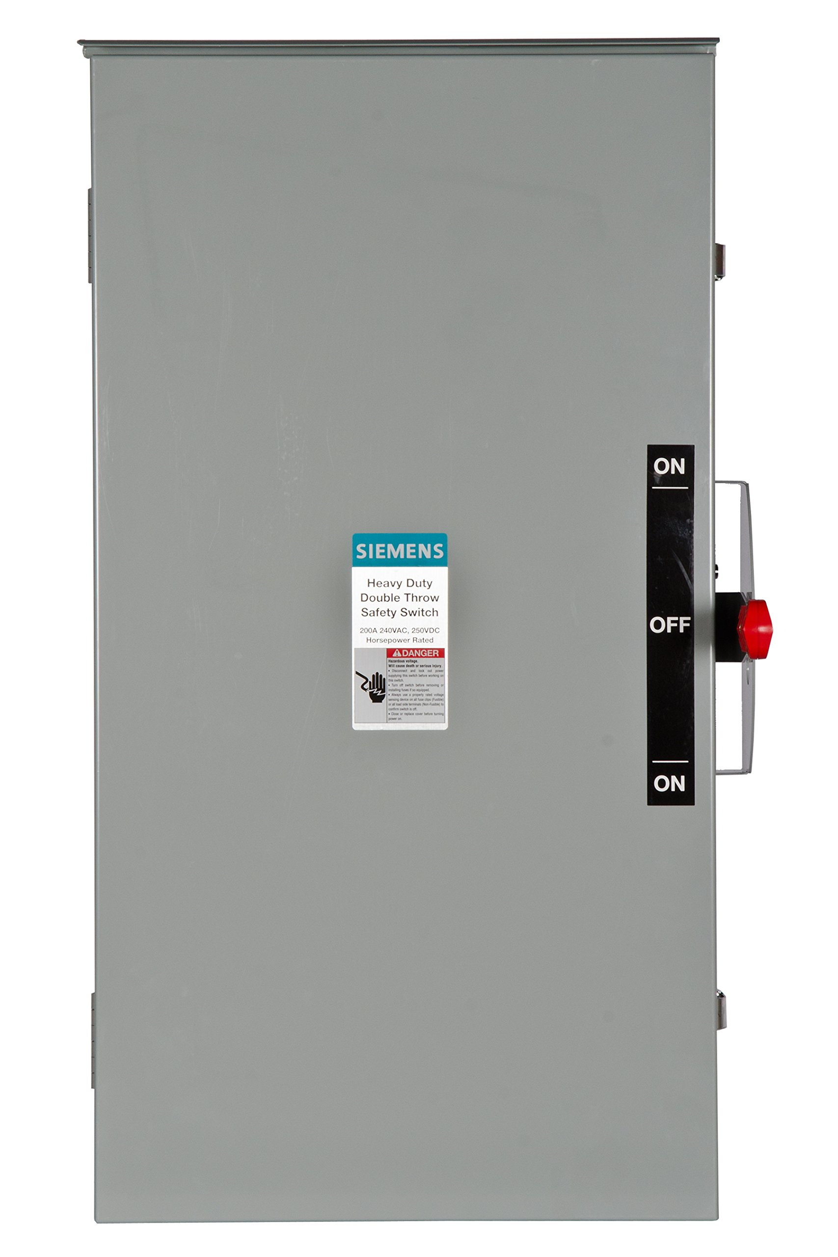 Siemens DTNF224R 200-Amp, 2 Pole, 240-volt, 2W Non-Fused Double Throw, Type 3R