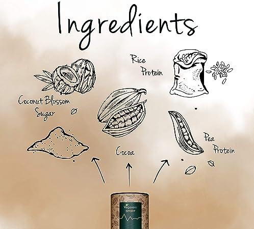 BIO Vegan Protein Powder Vegavero SPORT® | Proteínas Isolate de Guisante y Arroz | SIN GLUTEN – SIN SOJA | Suplemento Para Aumentar Masa Muscular | ...