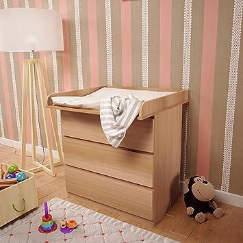 Polini Kids Wickelaufsatz Wickeltischaufsatz für Kommode MALM IKEA ...